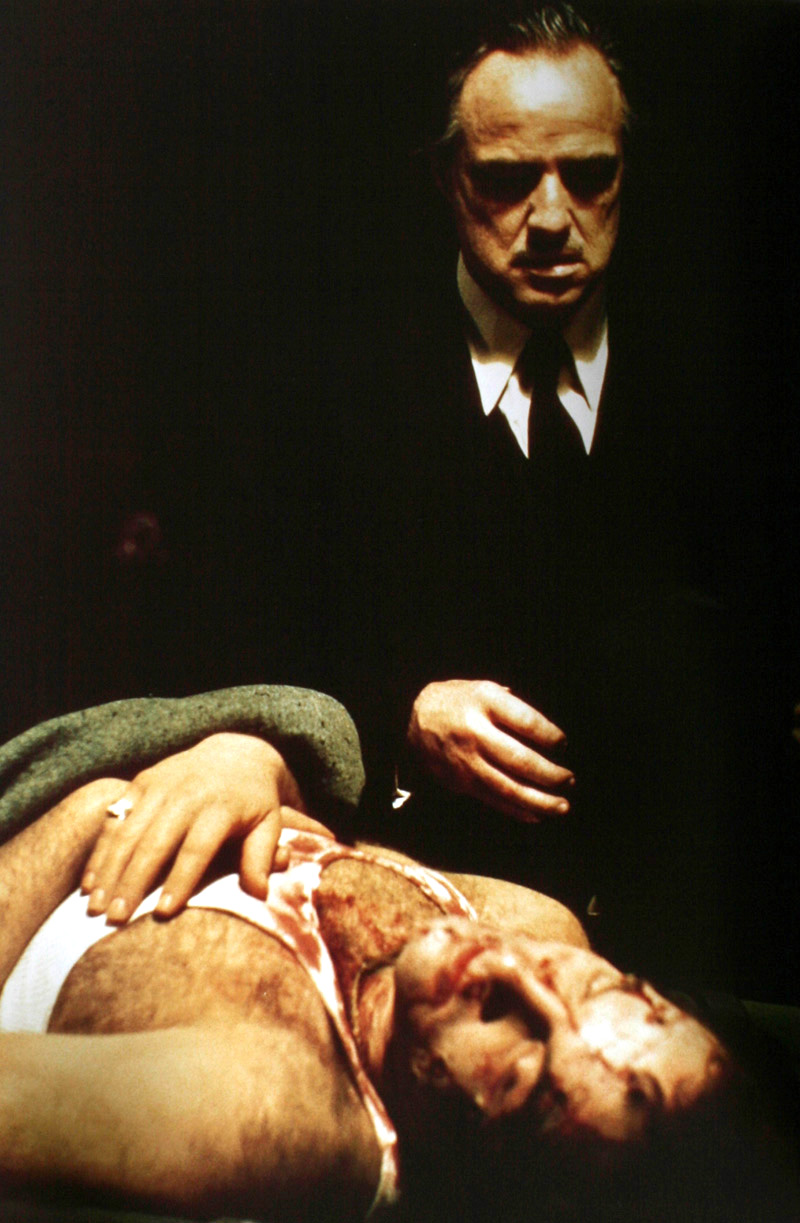 "Marlon Brando in ""The Godfather"" by Gordon Willis (1972)"