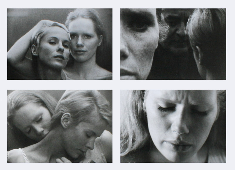 """Liv Ullmann and Bibi Andersson in """"Persona"""" by Sven Nykvist (1966)"""