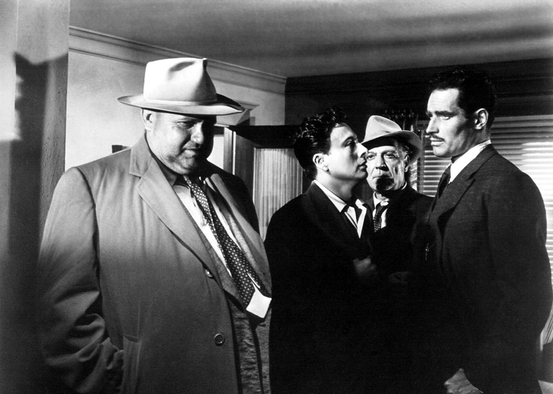 """Orson Welles and Charlton Heston in """"Touch of Evil"""" by Russell Metty (1958)"""