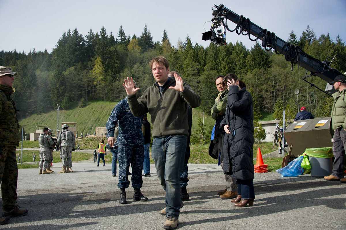 Gareth Edwards en el set de rodaje.