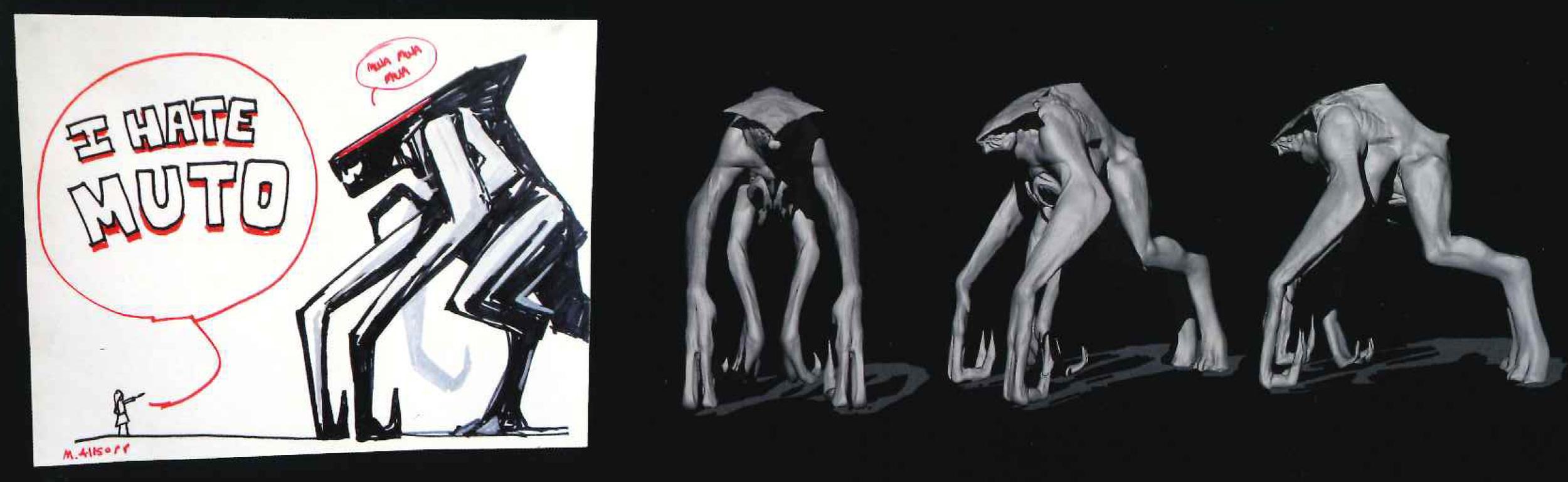 Zbrush concept de uno de los Mutos.