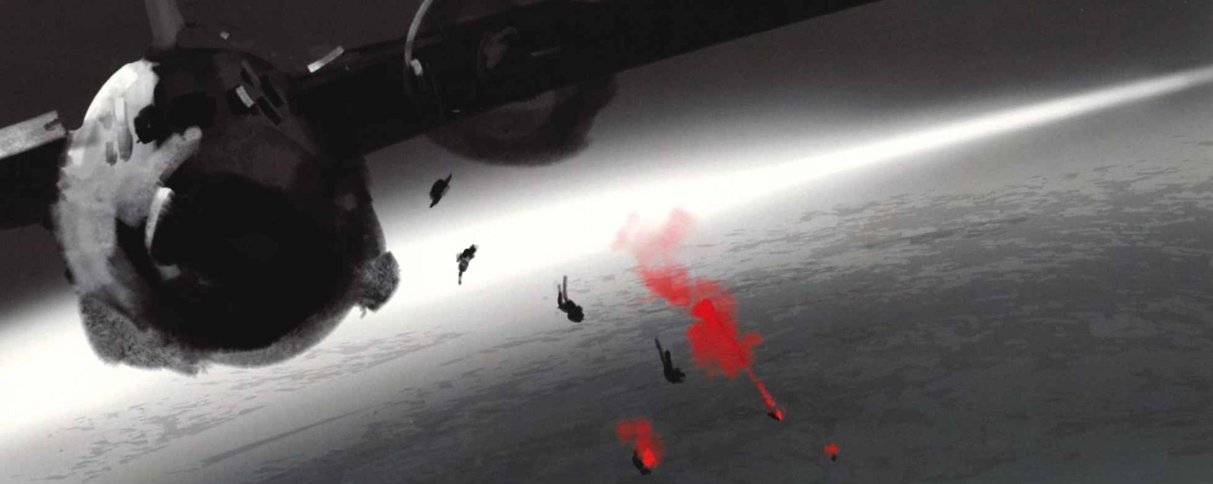 Concept art. Salto en paracaídas.