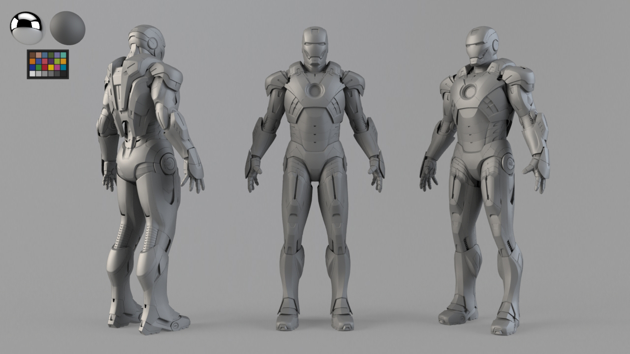 Ejemplo de personaje para VFX. Model checker.