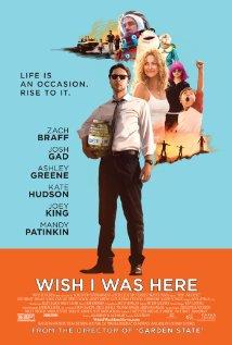 Título:  Wish I was here   Director:  Zach Braff   Escritor:  Zach Braff   Cinematógrafo:    Lawrence Sher