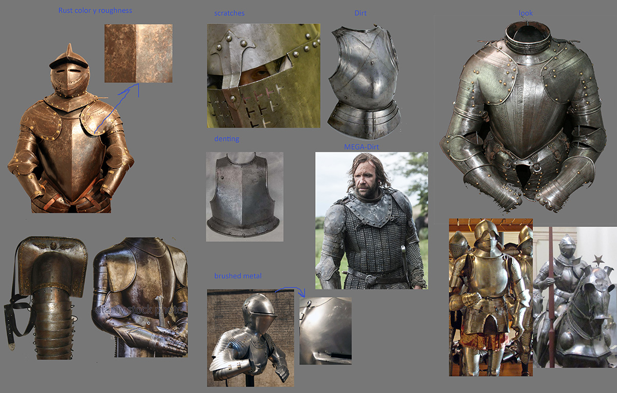 Referencias de armaduras.