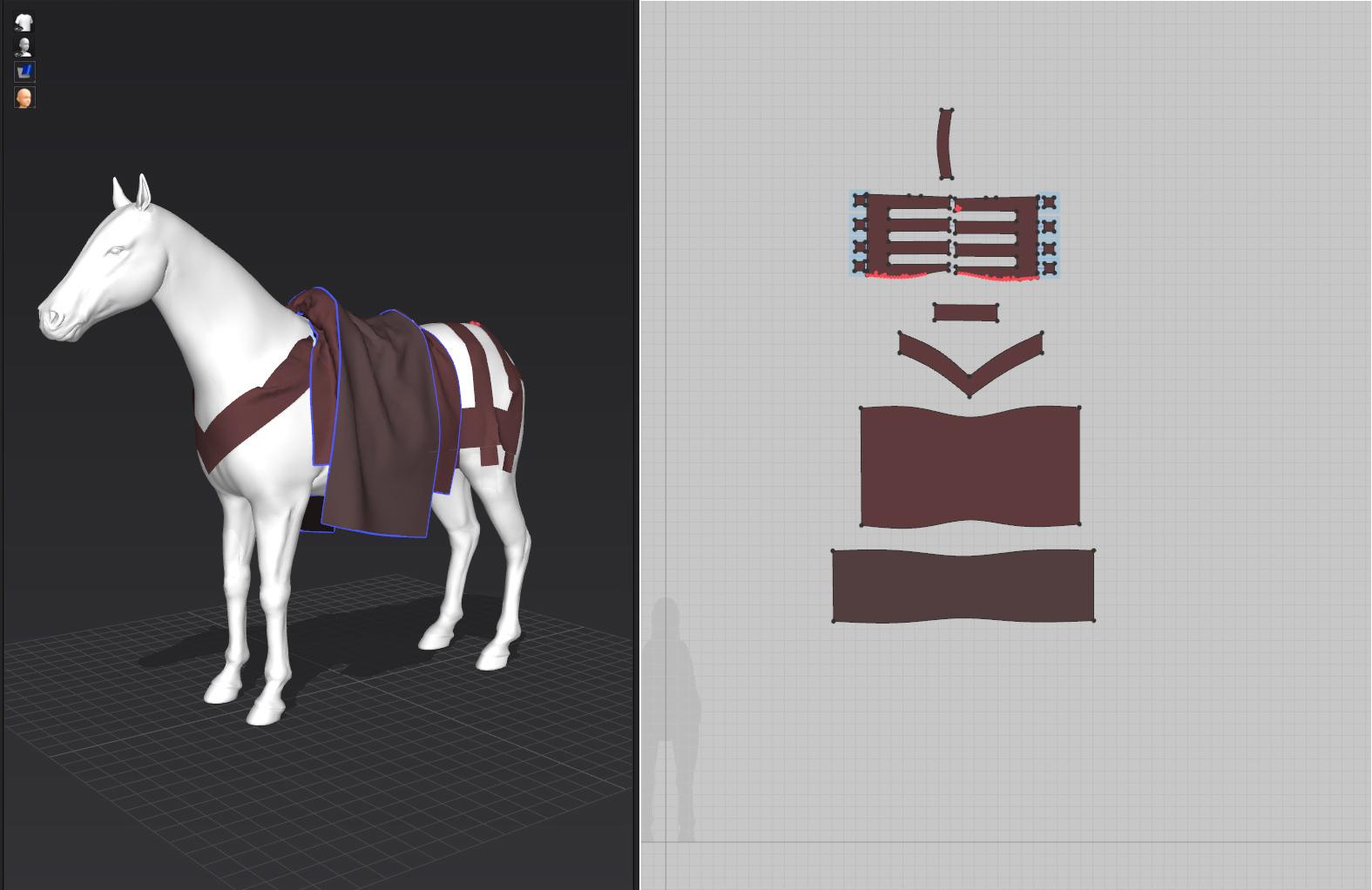 Marvelous Designer, caballo.