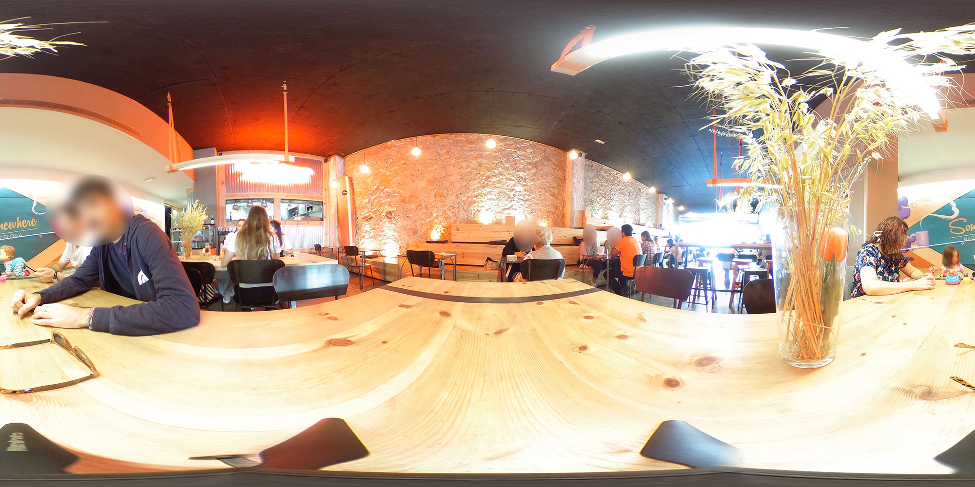 Barcelona cafe.