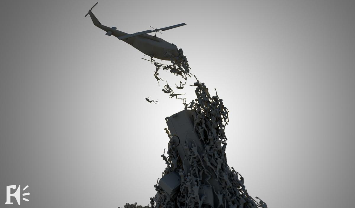 Concept art de World War Z, realizado por Framestore y ejecutado por MPC. Trabajé en WWZ allá por 2011