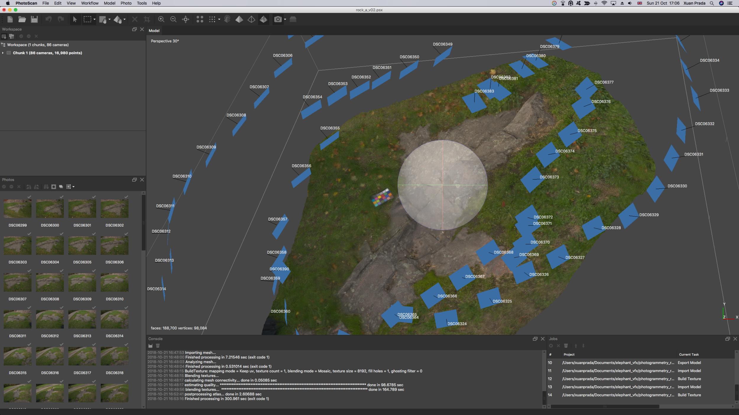 Simplemente por motivos de visualización, he importado el render mesh y la textura en Mari. Aquí podemos realizar ajustes si fuese necesario.