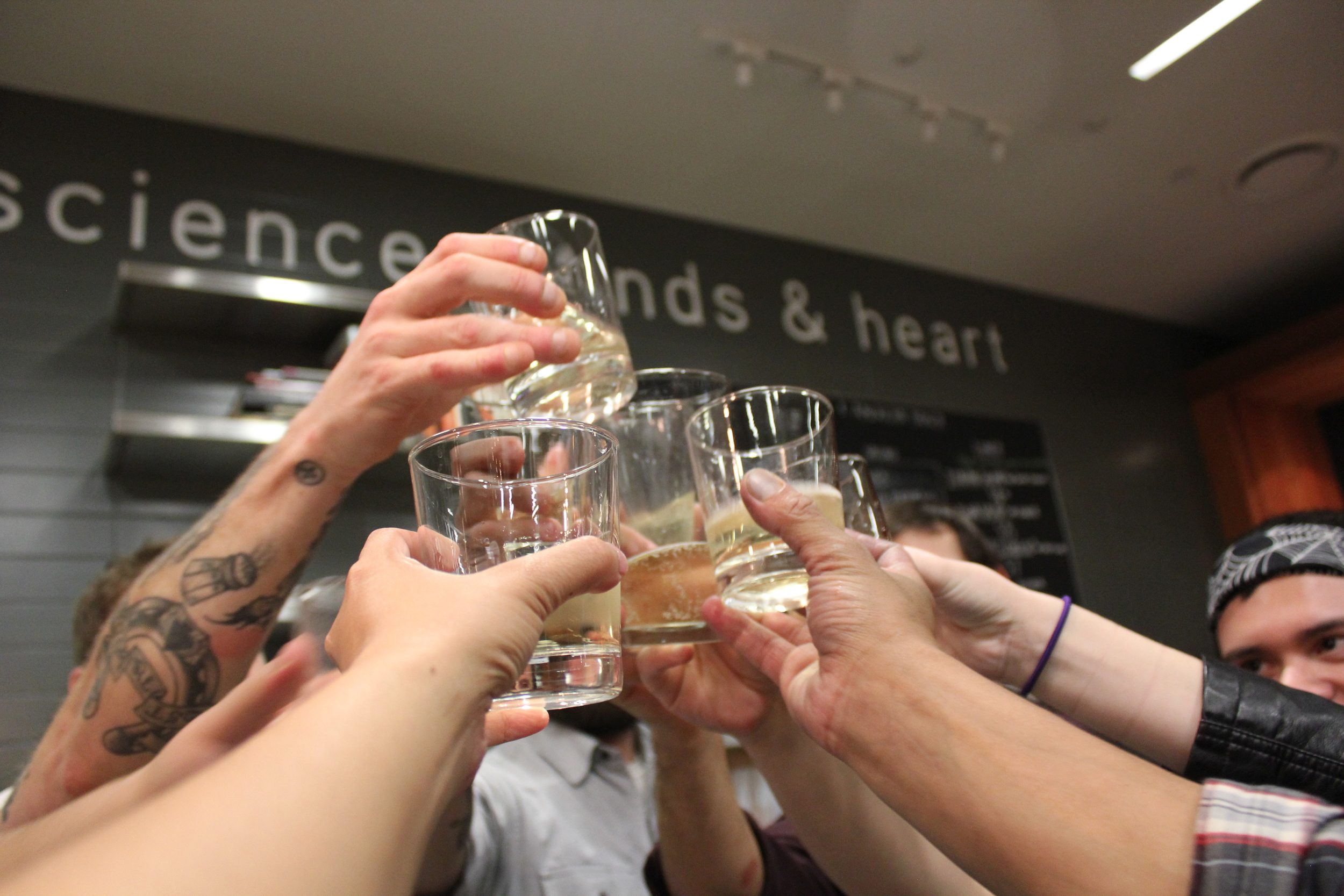 Champaigne toast to end the night