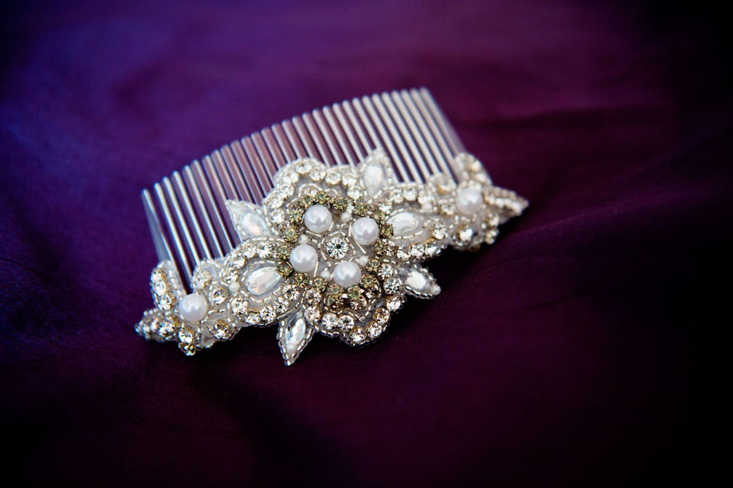 Bespoke pearl and crystal headpiece from Dirty Fabulous