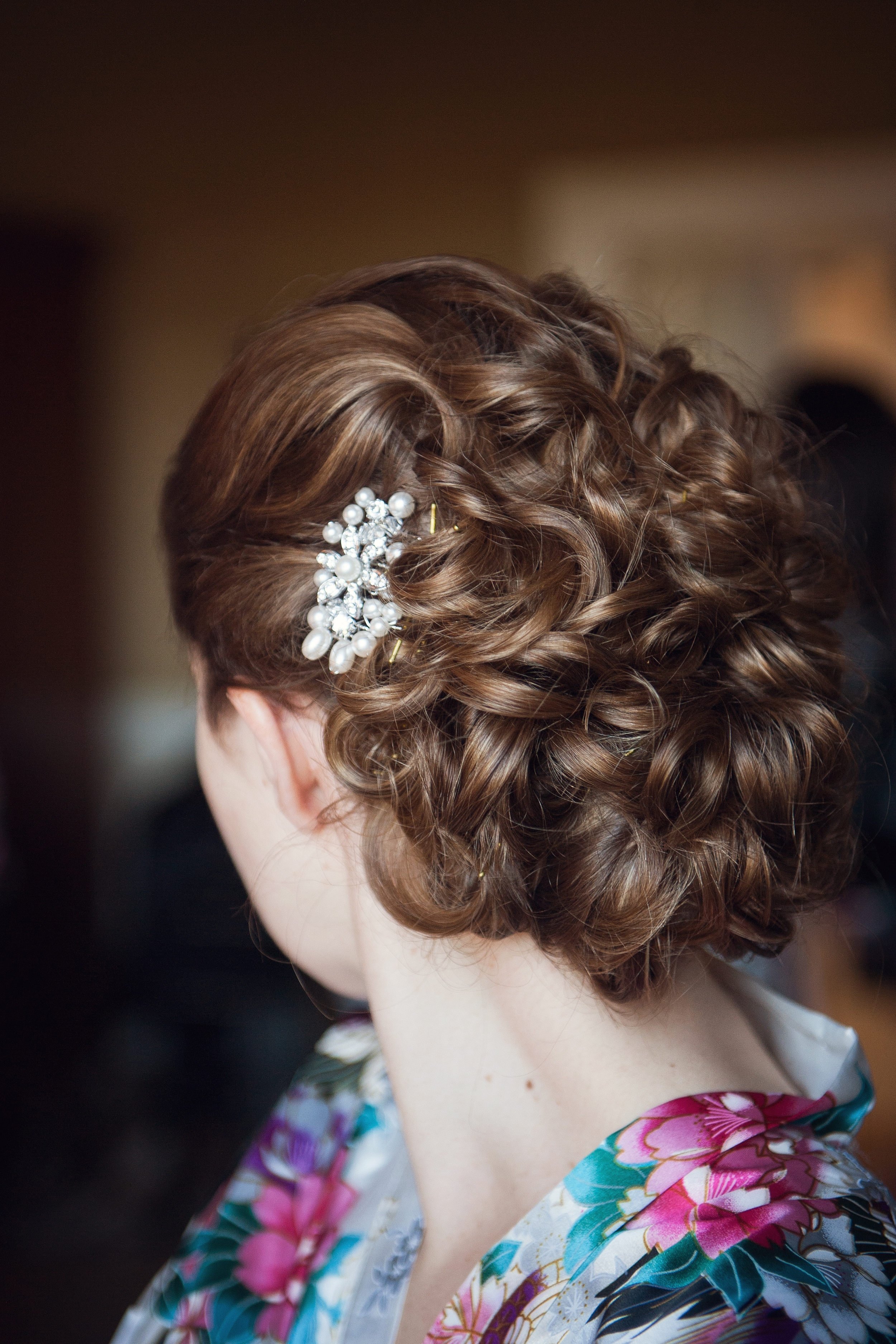 My hair was done by Castle Durrow's in-house stylist.