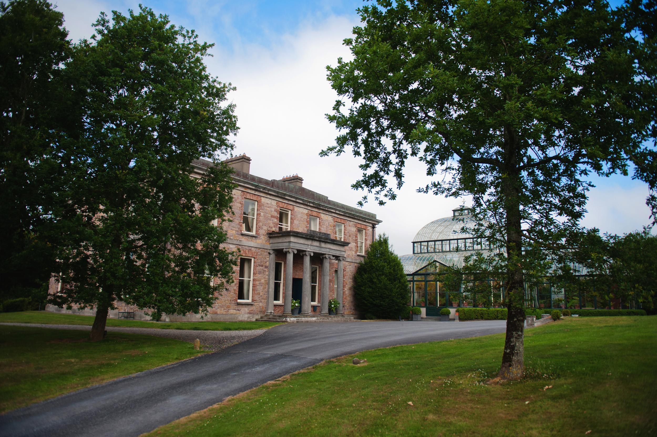 View of Kilshane House as you drive in. - Photography:Weddings by KARA© - Wedding Location: Kilshane House, Tipperary, Ireland