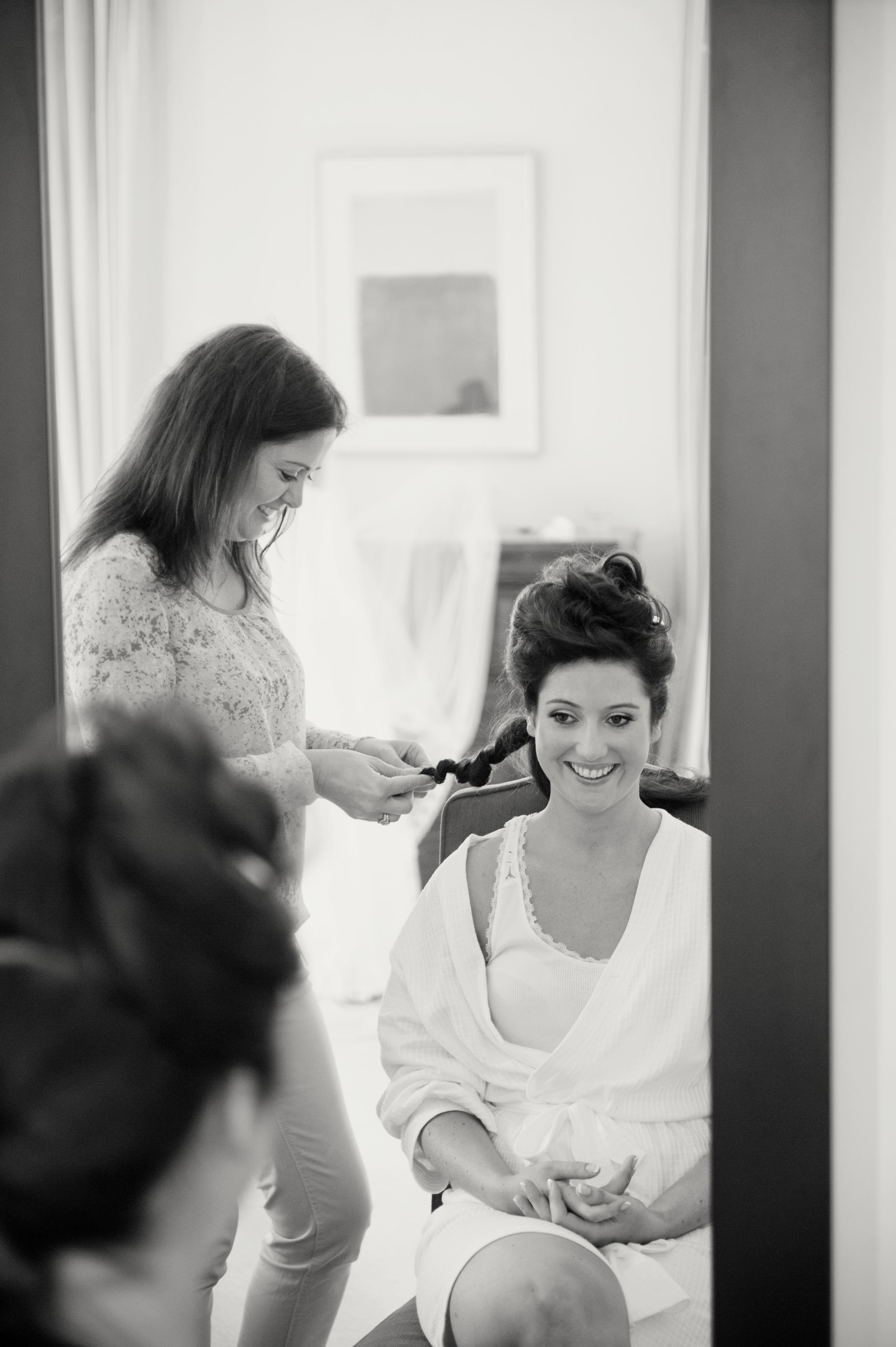 Hair by Marie Hickey - Photography:  Weddings by KARA  © - Wedding Location: Kilshane House, Tipperary, Ireland
