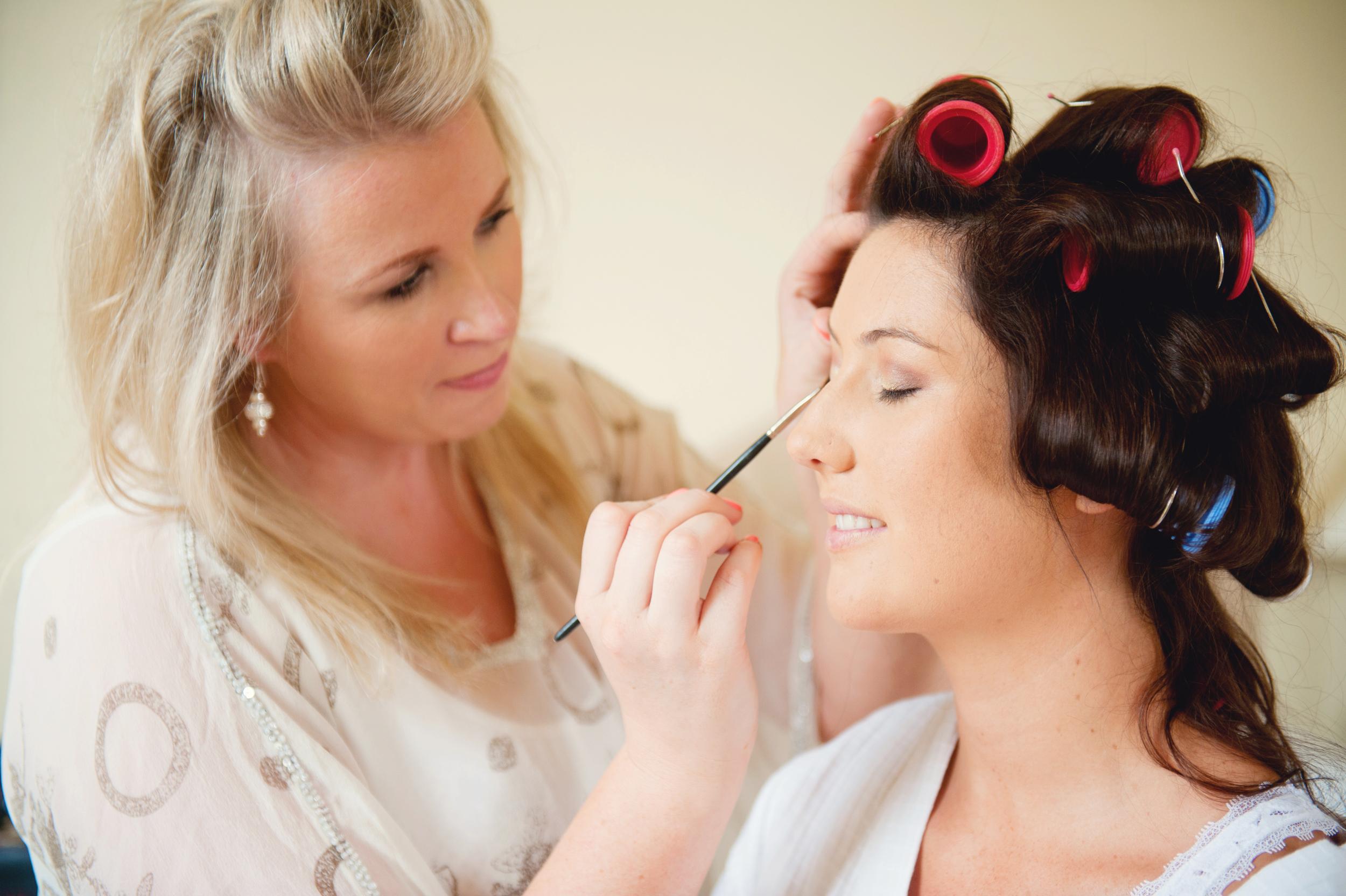 Makeup artist: Yvonne Maher. - Photography:Weddings by KARA © - Wedding Location: Kilshane House, Tipperary, Ireland