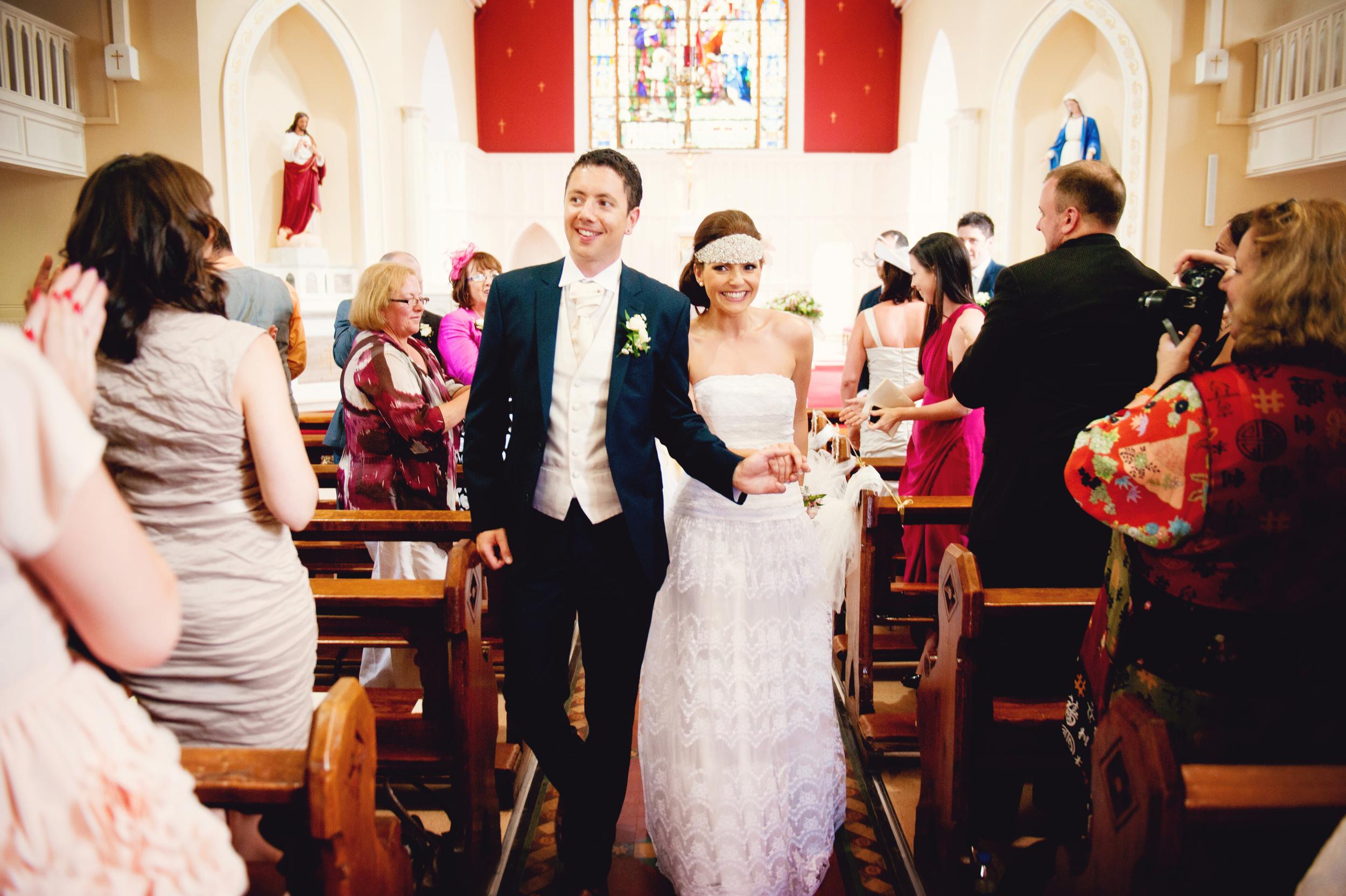 Just Married! Photography:  Weddings by KARA  © - Wedding Location: Kilshane House, Tipperary, Ireland