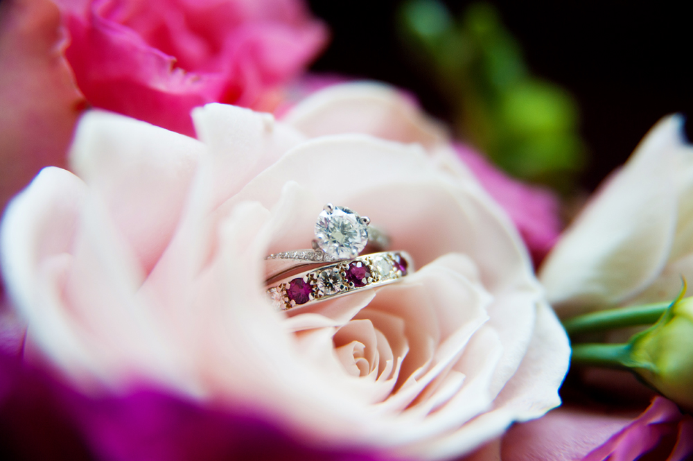 """Engagement Ring & Wedding Rings: """"All from Appleby, Dublin.  Pete  choose my gorgeous engagement ring himself and luckily i LOVED it!"""""""