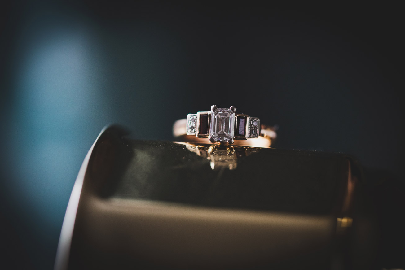 Engagement Ring on gold
