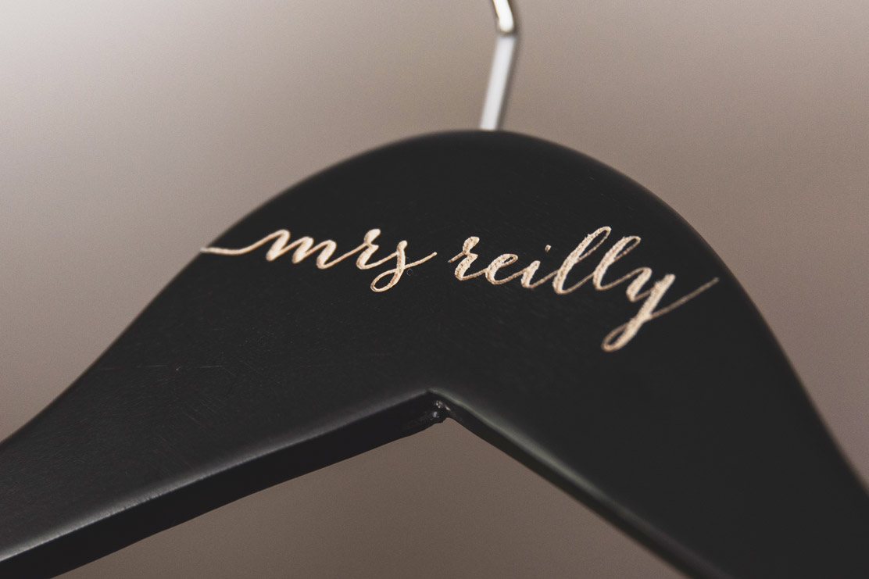 Customised wedding hanger wedding photography meath
