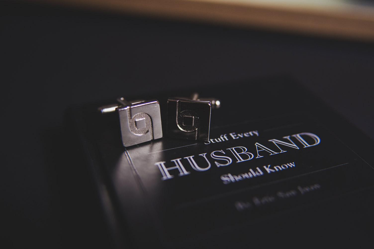 Groom's cufflinks wedding morning. Wedding photography meath.