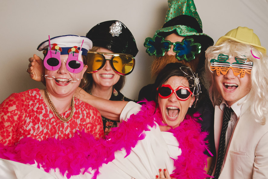 Photobooth in Tankardstown House Meath Wedding photographers meath ireland