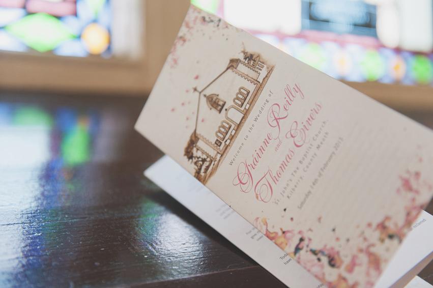 Wedding mass booklett in church