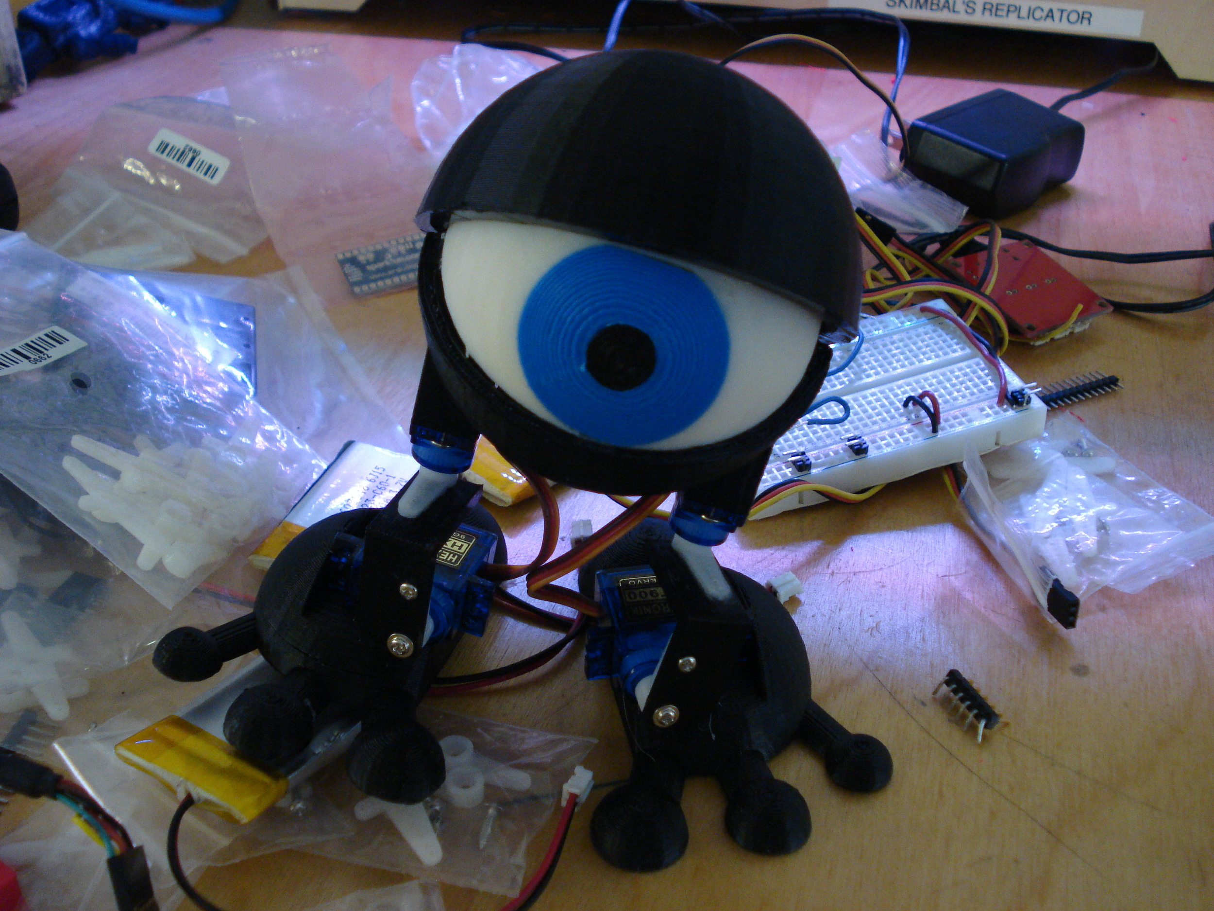 My first robotic Minion is alive!  Also, he seems slightly confused...
