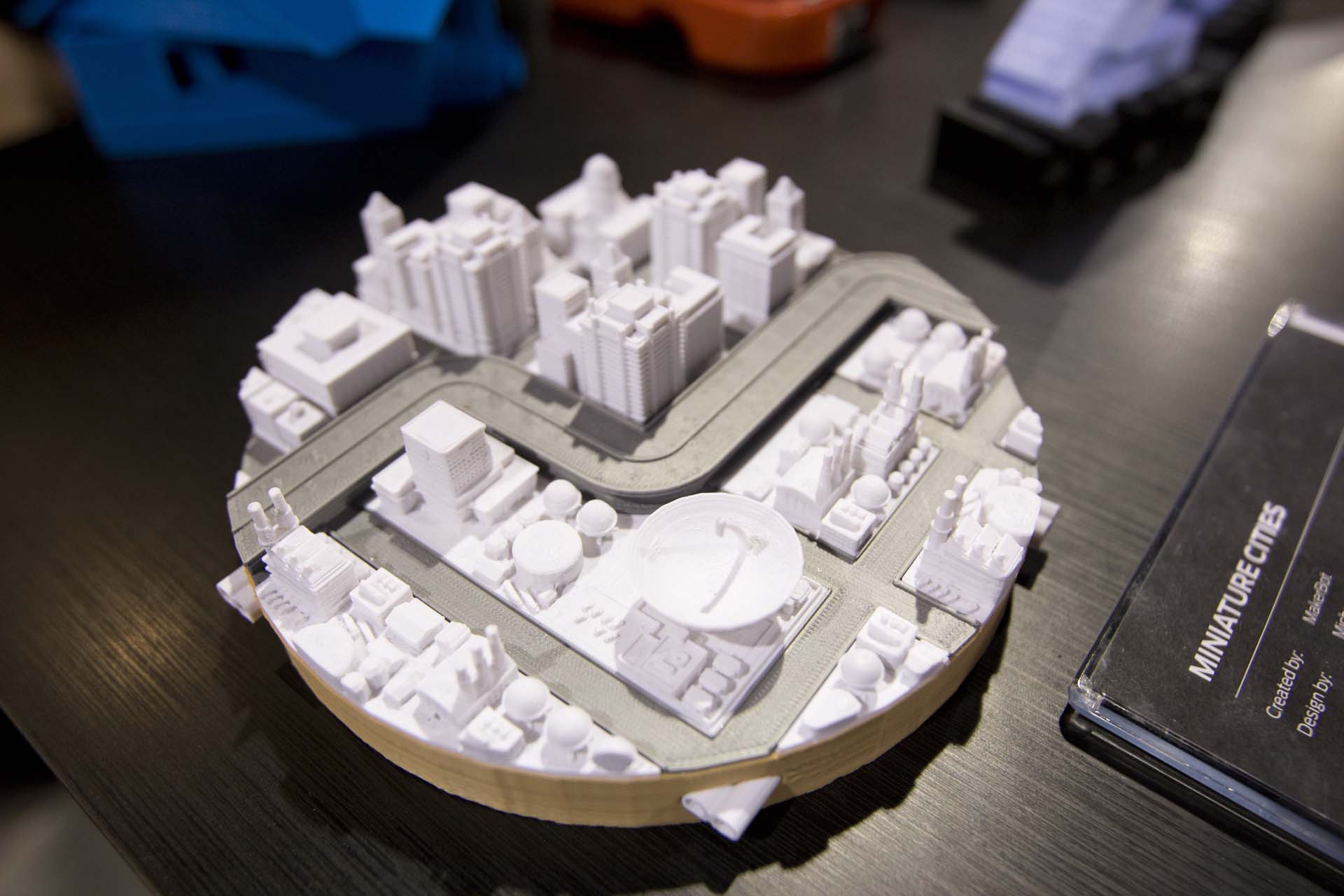 And Early Makerbot Project, the Miniture Sim City 2000 Play Set.Photo by  Annelise Jeske