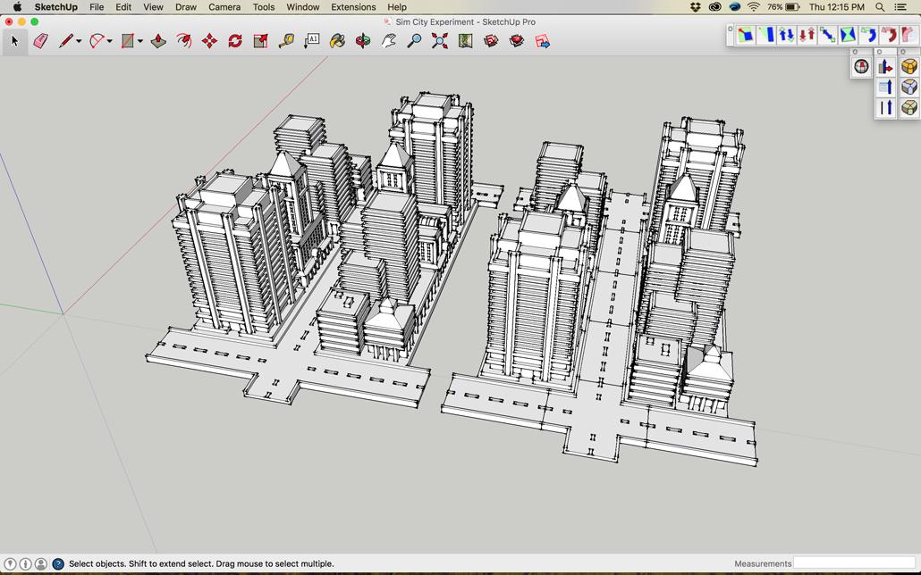 Sim City 2000 Buildings In Sketchup