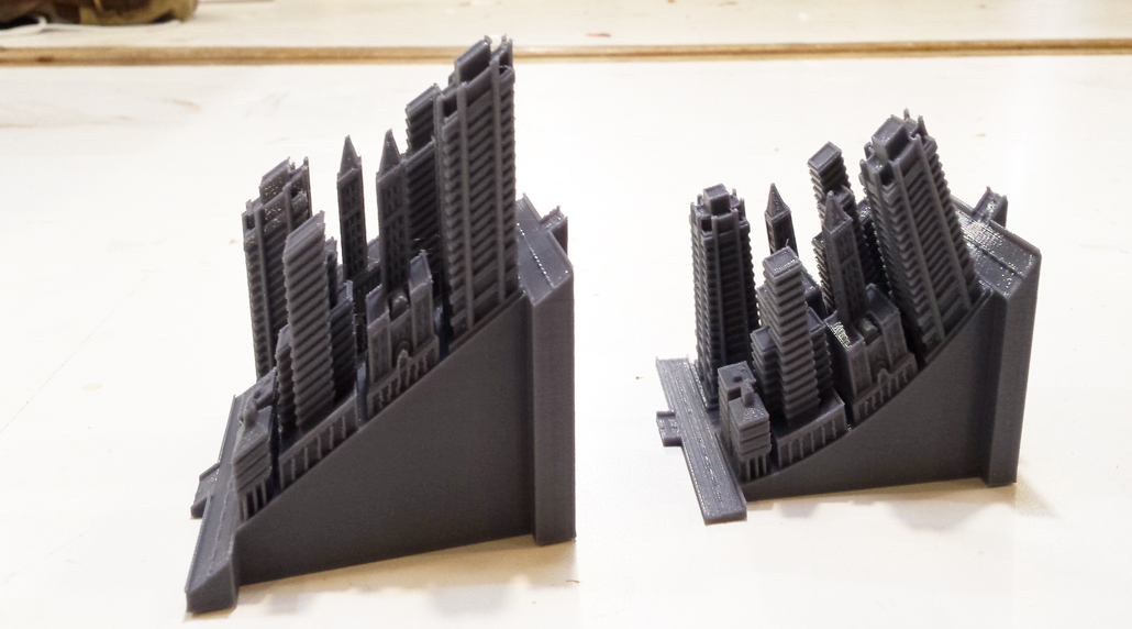 3D Printed Sim City 2000 Forced Perspective Test Side View