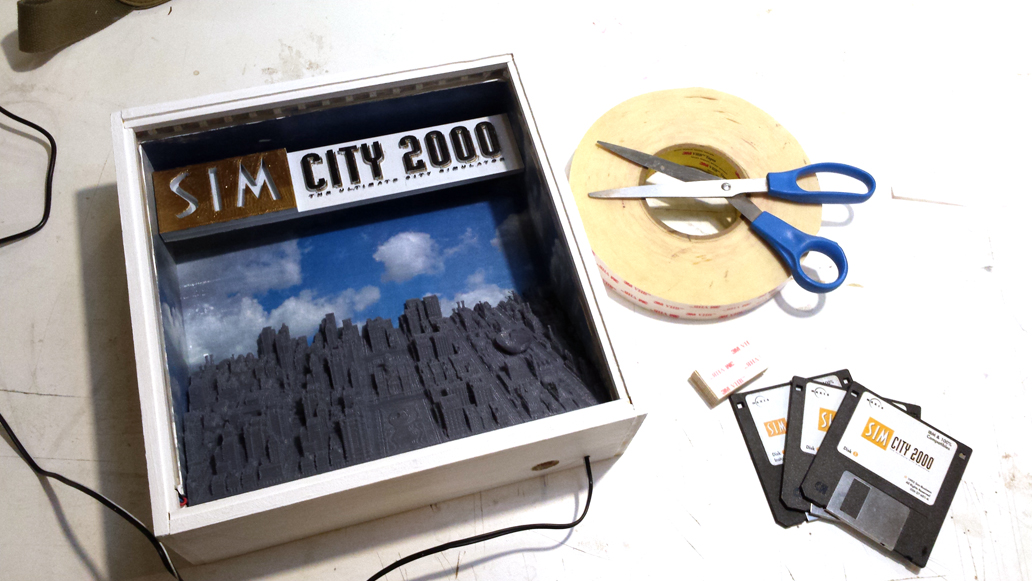 Installing the Logo in the SimCity 2000 shadow box