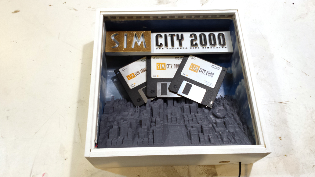 This Finished Simcity 2000 shadow Box