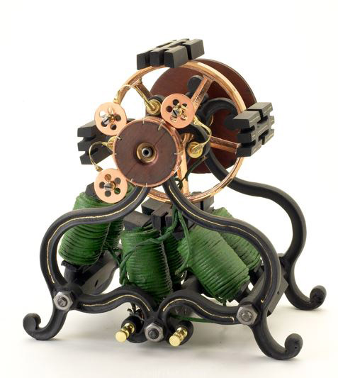 The Original 1872 Electromagnetic Motor Pattent Model, from the Rothschild Petersen Patent Model Collection