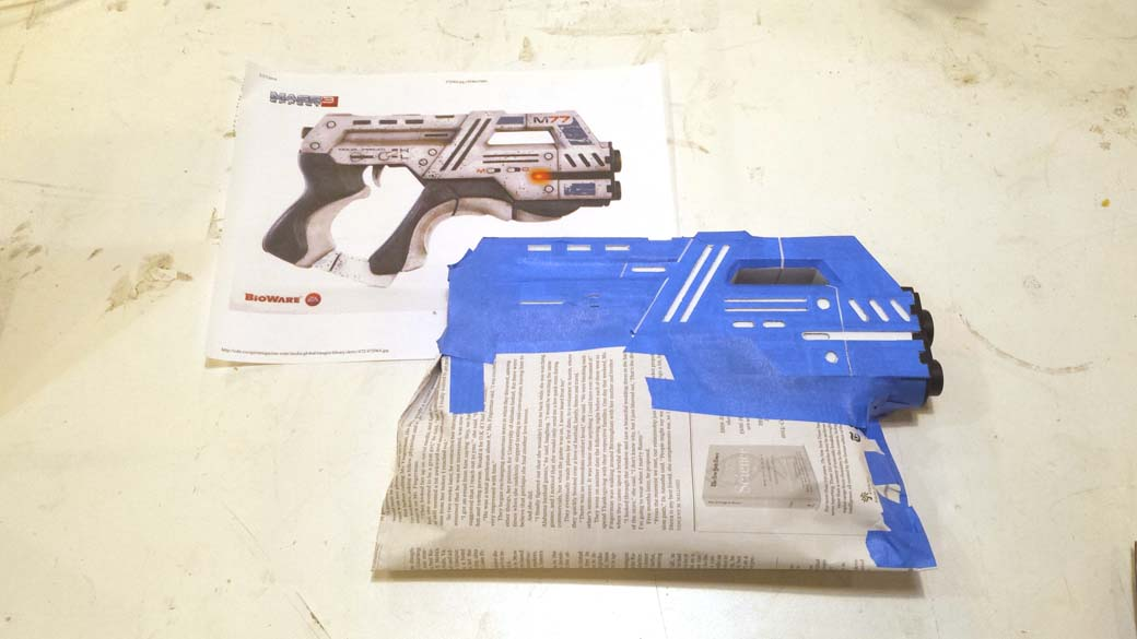 Final detail masking for 3D Printed Cosplay Mass Effect Pistol