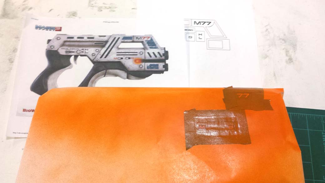 Painting Orange Details of 3D Printed Cosplay Mass Effect Pistol