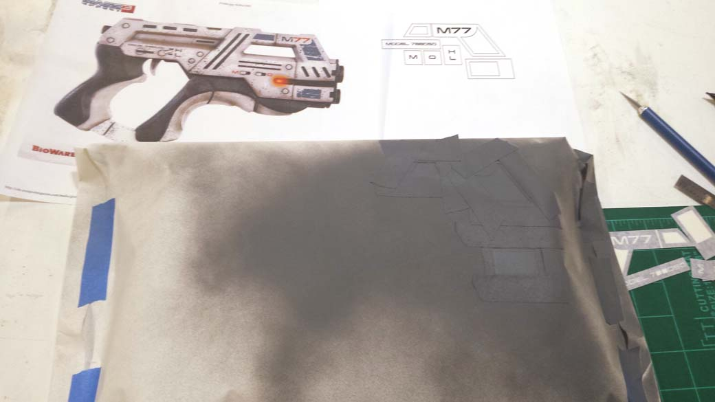 Painting Gray Details of 3D Printed Cosplay Mass Effect Pistol