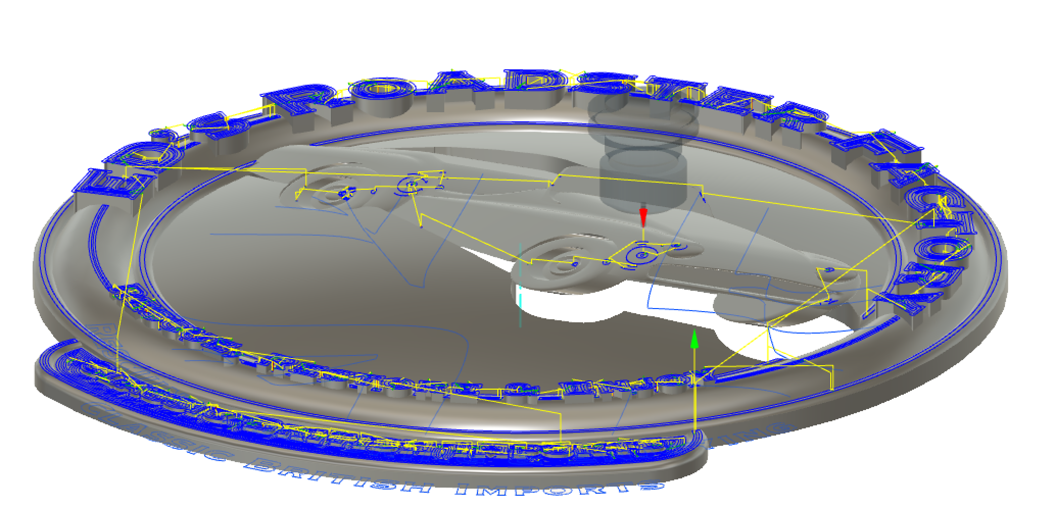 Horizontal cnc path from Autodesk Fusion 360