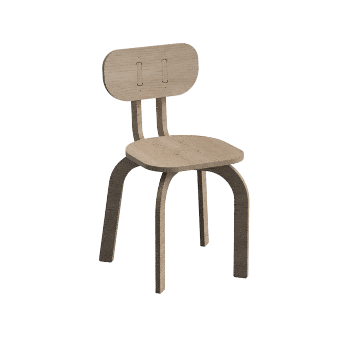 The initial version of the parametric Chair with base values