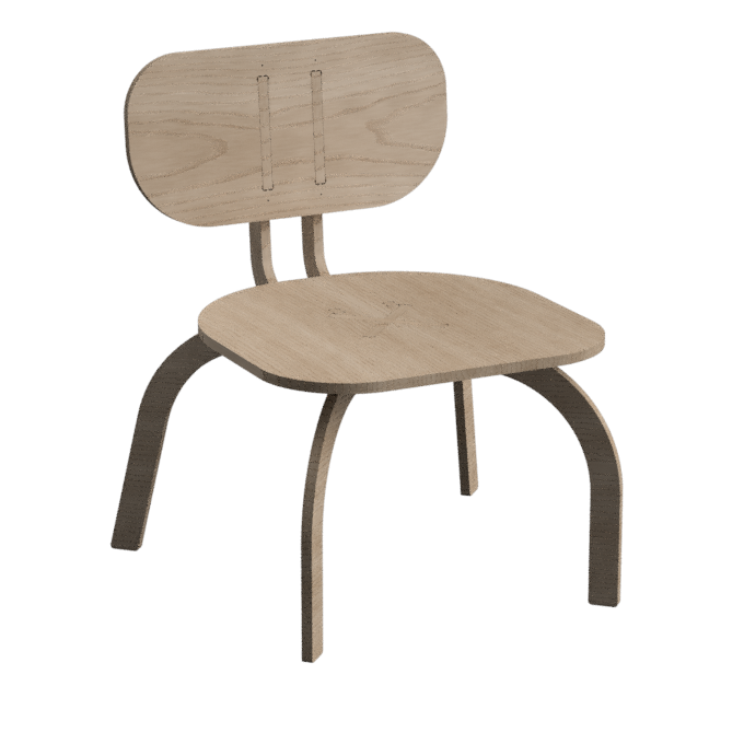 An extra wide version of our parametric chair