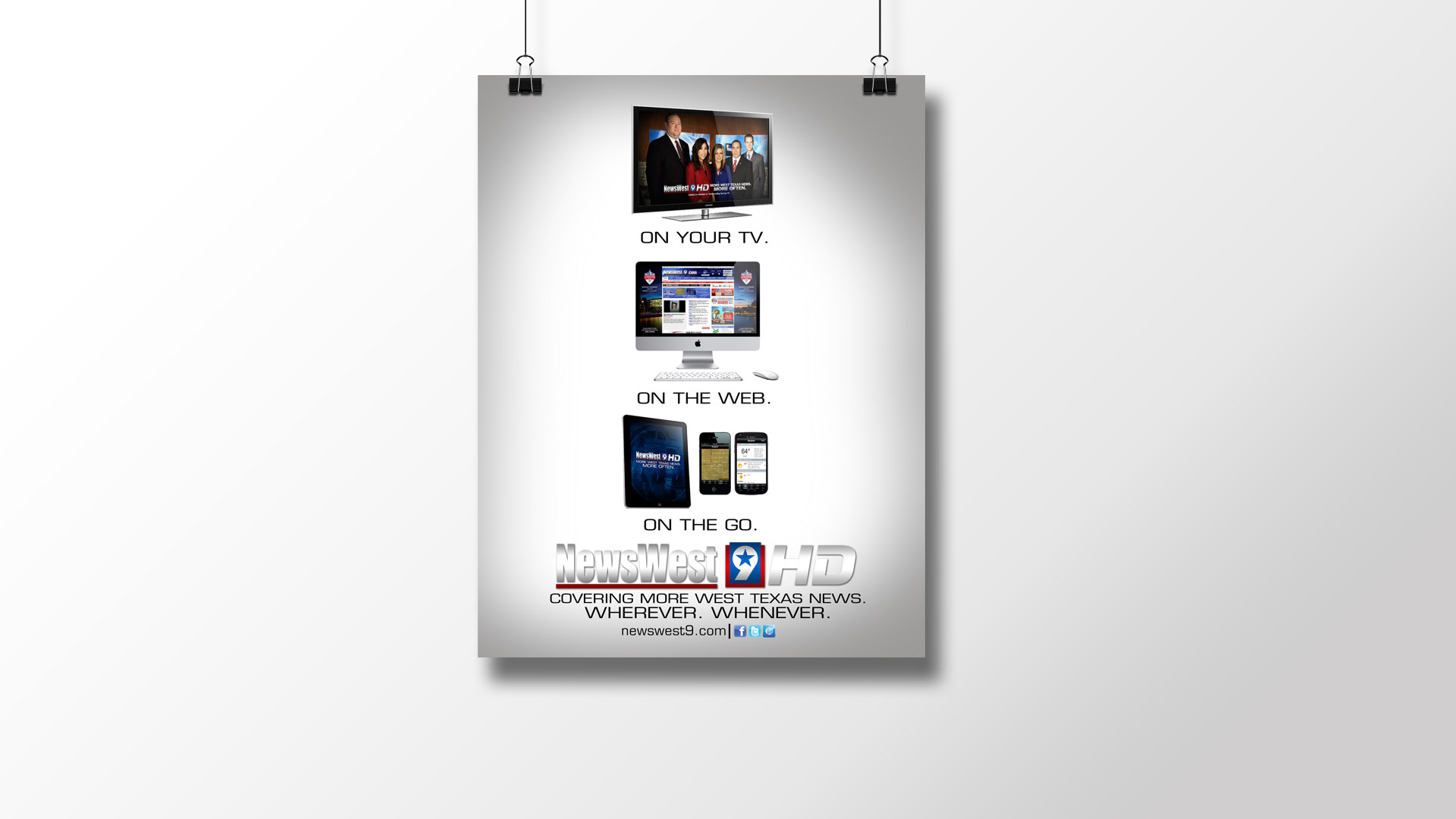 3 Sources Print Ad for NewsWest 9