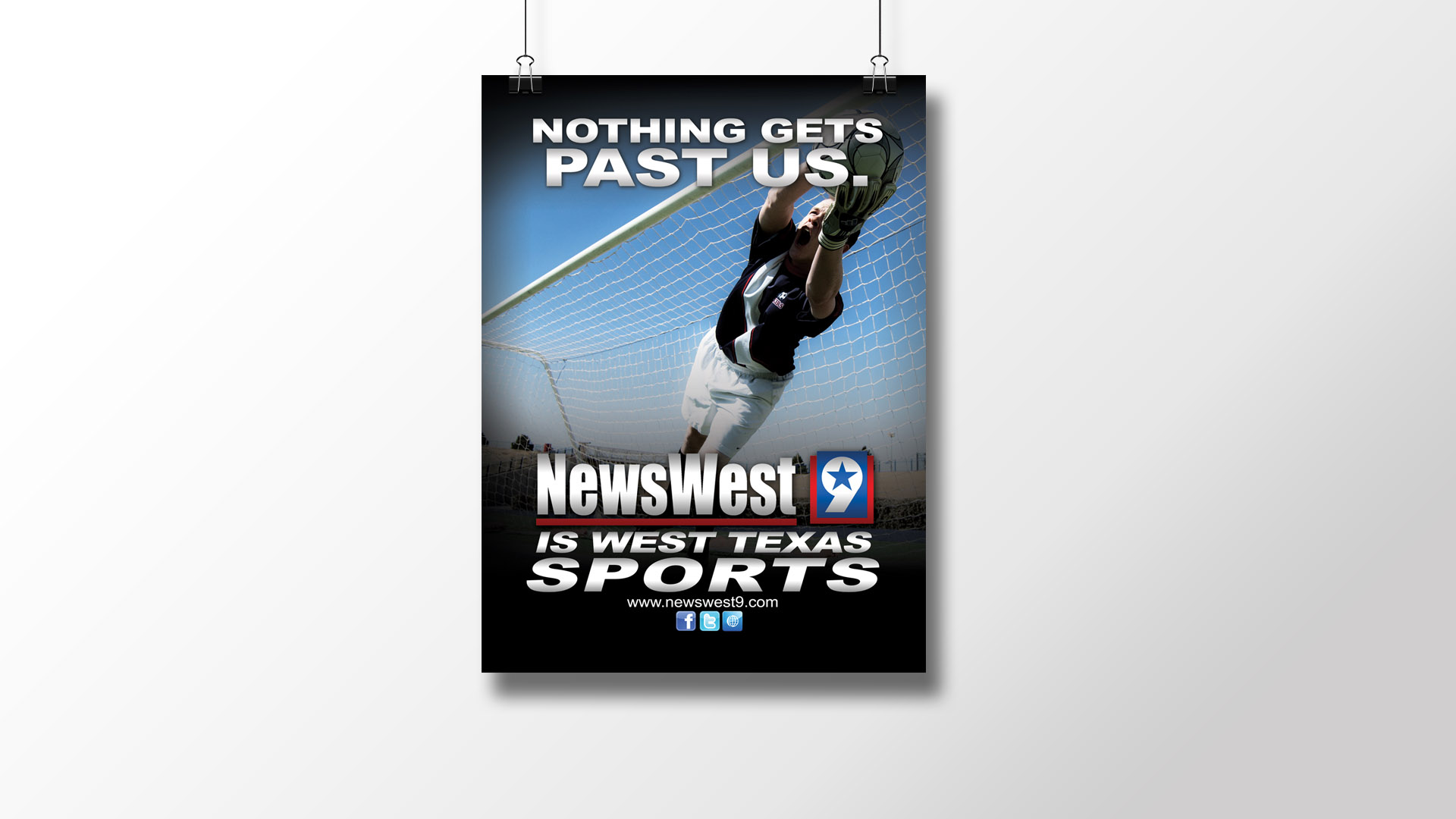 """Nothing Gets Past Us (Soccer)"" Print Ad"