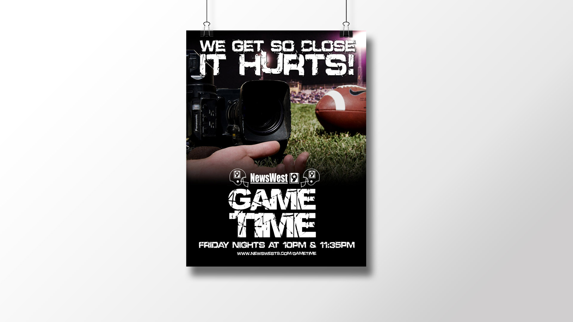 NewsWest 9 Game Time Print Ad