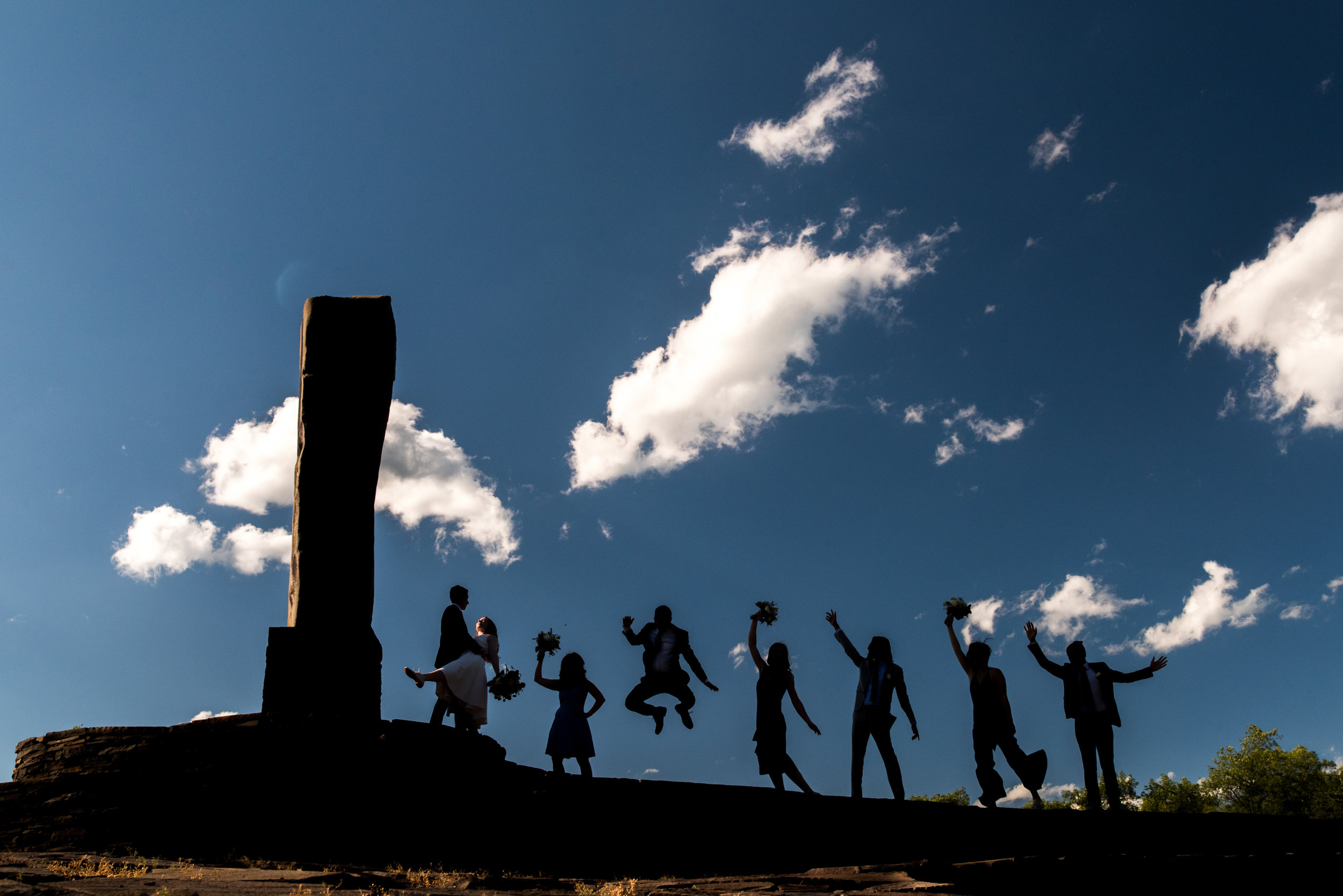 Stefy Hilmer Photography- silhouette photograph of the bridal party .jpg