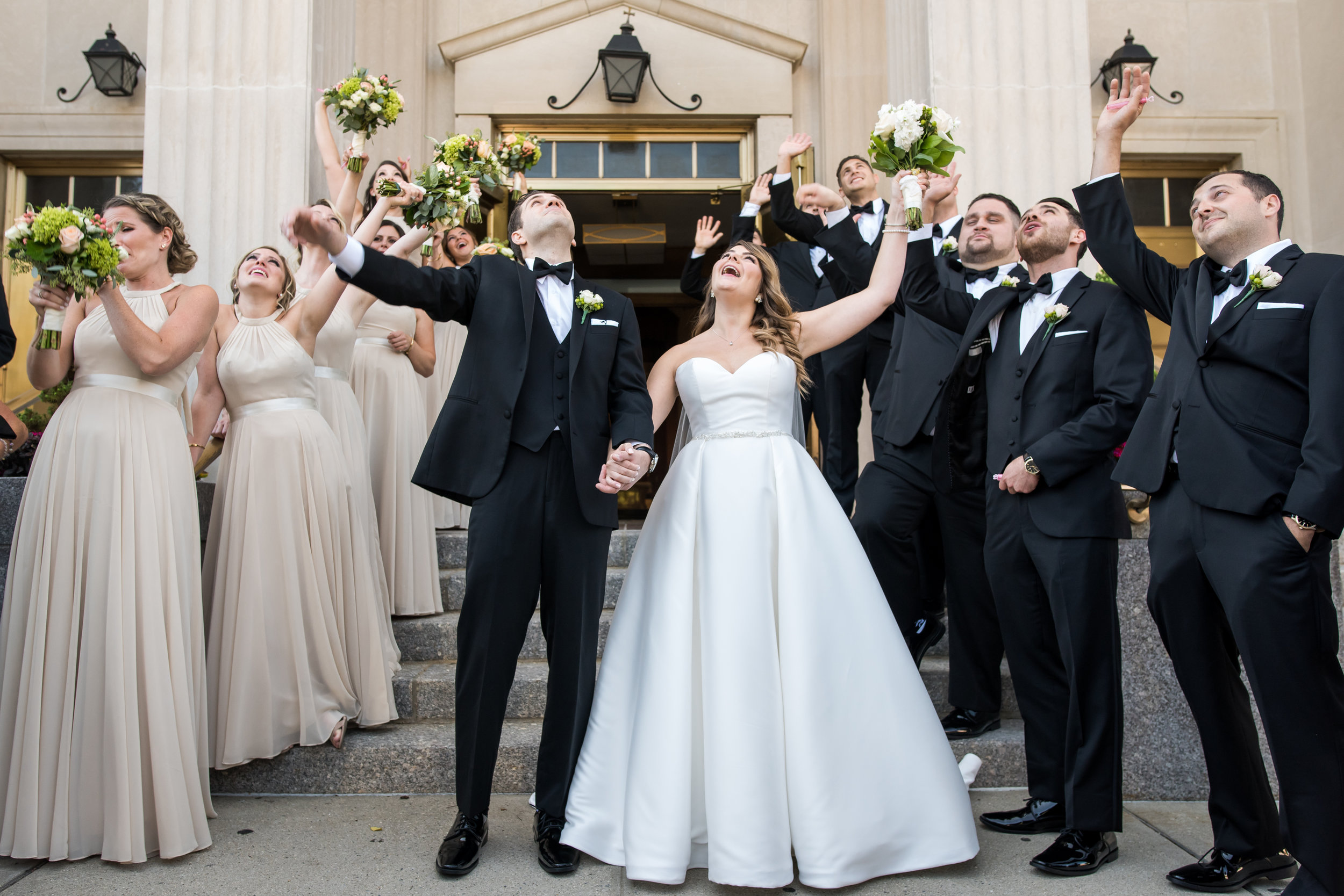 Stefy Hilmer Photography-bridal party looking up for drone photo.jpg