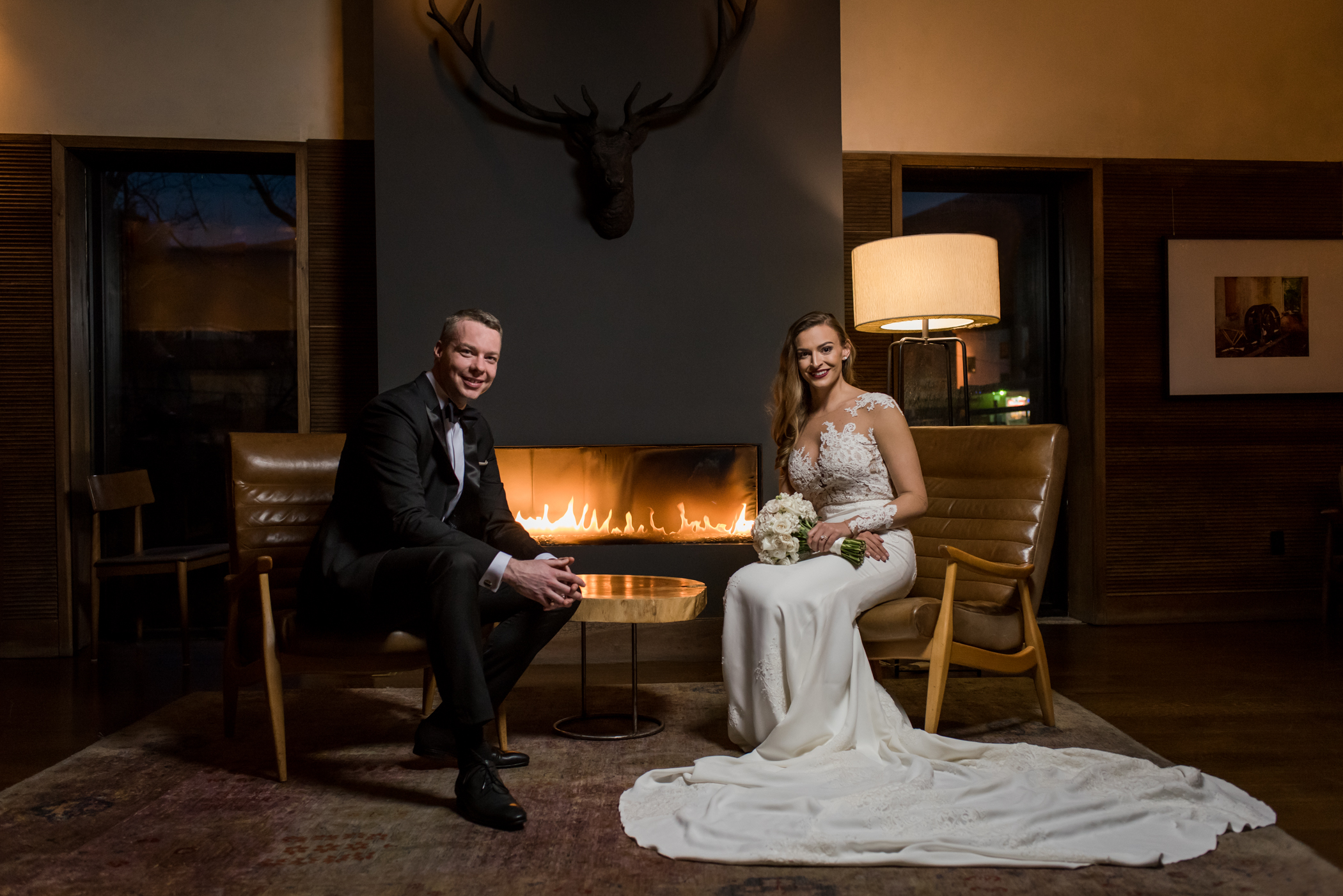 Stefy Hilmer Photography-bride and groom portrait with antler.jpg