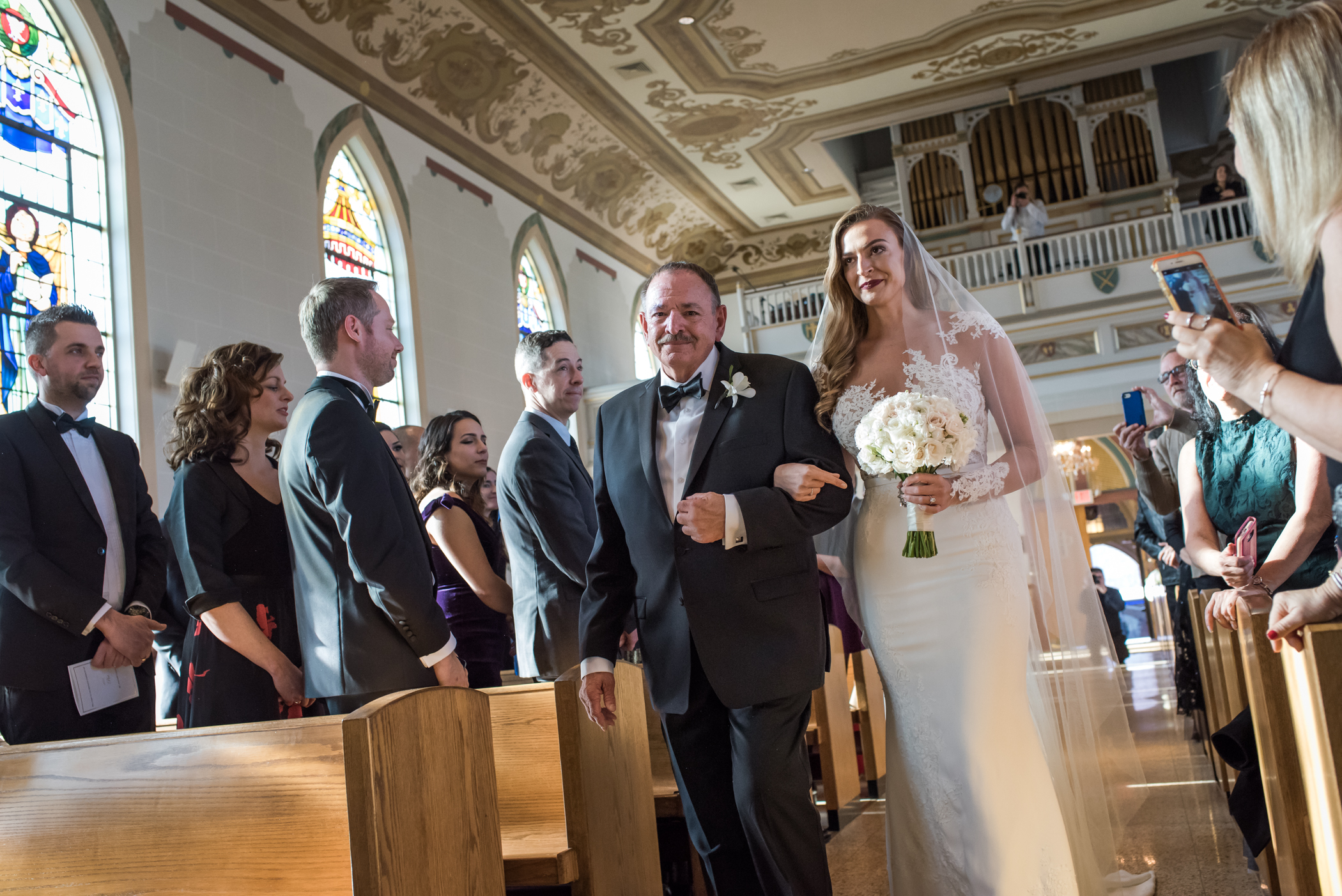 Stefy Hilmer Photography-dad is giving his daughter to her new husband in church.jpg
