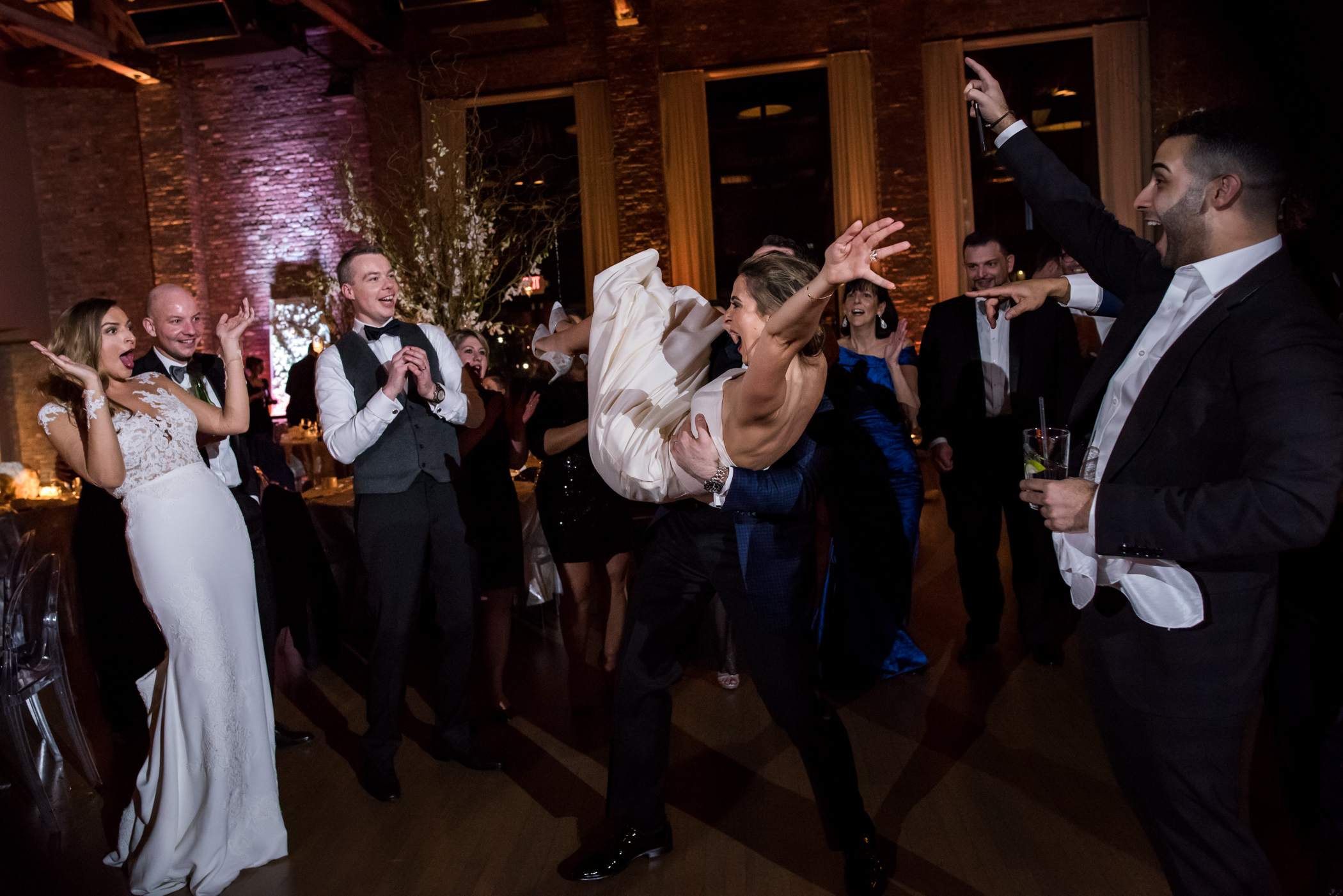 Stefy Hilmer Photography-dancing fun during receptiona the Roundhouse in Beacon.jpg