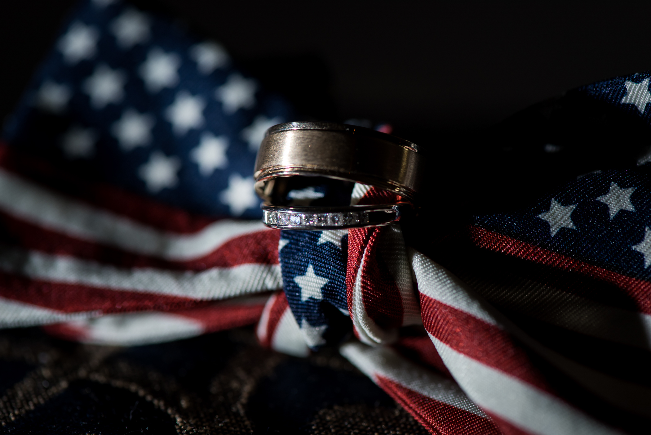 Stefy Hilmer Photography-wedding ring photo with american flag.jpg