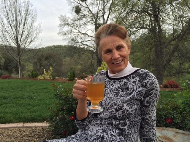 My Sweet, Supermom, enjoying healing Turmeric tea! She taught me sooooo much about healthy, herbs, plant-based living! Thank you MOM!