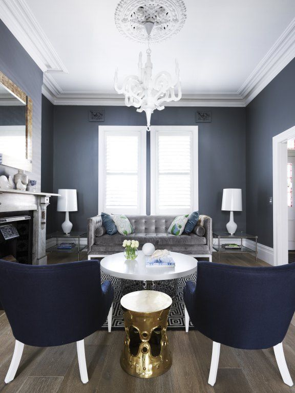 chic navy room
